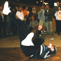Junk breaking at Bournemouth pier, 1997