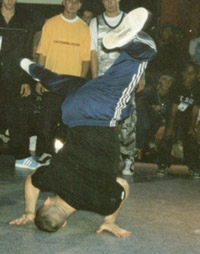 Asa doing a halo at UK Championships 1997