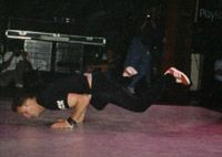 Nick doing a turtle at UK Championships 1997