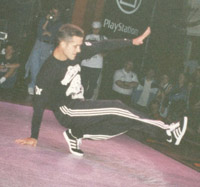 Tony doing a footwork at UK Championships 1997