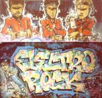 electro rock piece by the chome angelz 1985