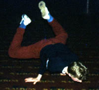 Junk doing a turtle at Madisons sat afternoon session 1984