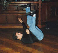 Tony doing a backspin at 'Bacchus Bar' 1987