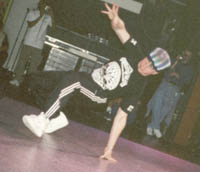 Junk doing  footworkl at UK Championships 1997
